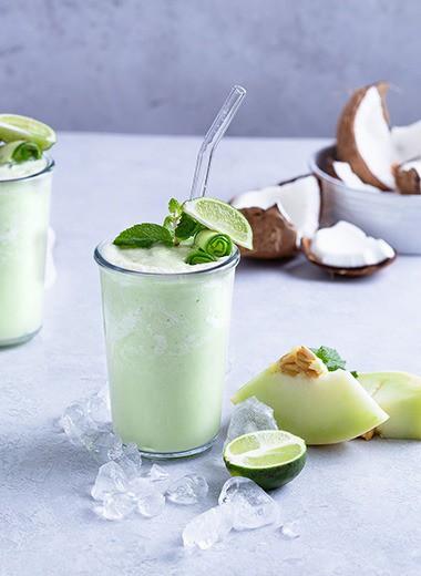 Melon Honeydew Cucumber Smoothie