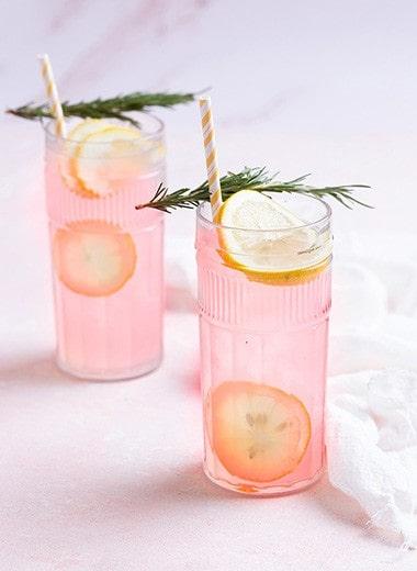 Rosemary Pink Rose Lemonade